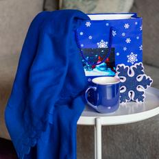 Набор подарочный Сhristmaswarm: плед, кружка, украшение, пакет, синий фото
