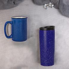 Набор подарочный Starlight: термокружка, кружка, синий фото