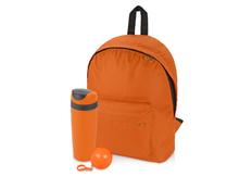 Набор подарочный Tetto: дождевик, рюкзак, термокружка, оранжевый фото