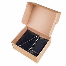 Набор подарочный Total: бизнес-блокнот Trendi, внешний аккумулятор Accesstyle Midnight II 10000 mAh, карандаш Godiva, черный / синий фото