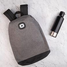 Набор подарочный Urnabicon: рюкзак, бутылка для воды, серый / черный фото