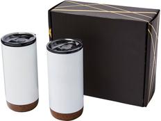 Набор подарочный Valhalla из 2 термокружек, белый / коричневый фото