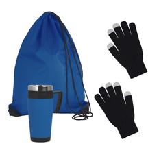 Набор подарочный Зимняя прогулка, черный, синий фото