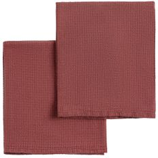 Набор полотенец Fine Line, красный фото