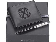 Набор Christian Lacroix: портмоне мужское, ручка-стилус, черный фото