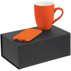 Набор Powerhouse ver.2: кружка Best Morning, внешний аккумулятор Uniscend Half Day Compact 5000 мAч, оранжевый фото