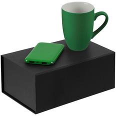 Набор Powerhouse: кружка Best Morning, внешний аккумулятор Uniscend Half Day Compact 5000 мAч, зеленый фото