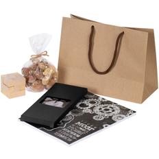 Набор «Прокачка мозгов»: книга «Чтобы мозг не заржавел», головоломка Cubism, шоколад Dulce, ореховая смесь Assorti, коричневый / черный фото