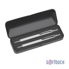 "Набор ""Ray"": ручка+карандаш, белый, покрытие soft touch фото"