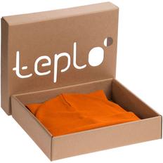 Набор teplo Real Talk: шапка, шарф, оранжевый фото