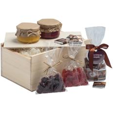 Набор Redvalley: мед с джемом, крем-мед, шоколад, цукаты, клюква, крафт фото