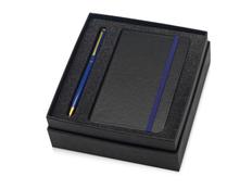 Подарочный набор Reporter с ручкой и блокнотом А6, черный, синий фото