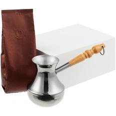 Набор кофейный с туркой Revive, белый фото