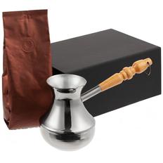 Набор кофейный с туркой Revive, черный фото