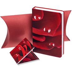 Набор Роза: ежедневник и зеркальце, красный фото