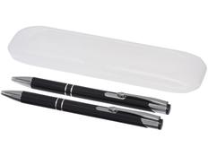 Набор Belfast: ручка шариковая металлическая, карандаш механический, черный / серый фото