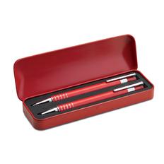 Набор в футляре: ручка шариковая, карандаш механический, красный фото