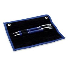 Набор: ручка шариковая металлическая, карандаш механический, синий / черный фото