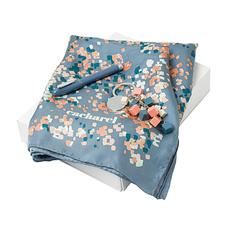 Набор Cacharel: ручка роллер, брелок, платок, серый/ розовый фото