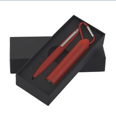 Набор Chili: ручка шариковая Mercury, зарядное устройство Minty 2800 mAh, темно-красный фото