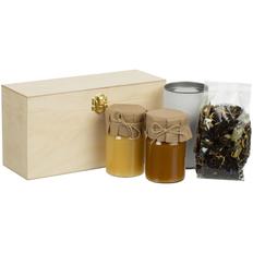 Набор с чаем и медом в шкатулке Right Bees, белый фото