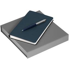 Набор Scroll Writer: ежедневник Scroll, ручка шариковая Flip Silver, синий фото
