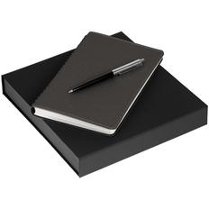 Набор Scroll Writer: ежедневник Scroll, ручка шариковая Flip Silver, темно-серый фото