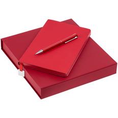 Набор Shall Light: ежедневник недатированный А5, ручка шариковая Blade Soft Touch, красный фото