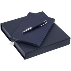 Набор Shall Light: ежедневник недатированный А5, ручка шариковая Blade Soft Touch, синий фото