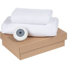 Набор Shower Tunes: полотенце Embrace 2 шт., беспроводная колонка stuckSpeaker 2.0, белый фото