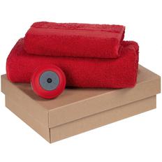 Набор Shower Tunes: полотенце Embrace 2 шт., беспроводная колонка stuckSpeaker 2.0, красный фото