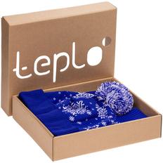 Набор teplo Snow Fashion: шапка, шарф, варежки, синий фото
