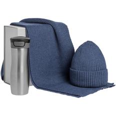 Набор Snow-how: термостакан, шапка, шарф, синий фото