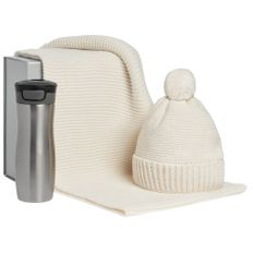 Набор Snowballs: термостакан, шапка, снуд, белый фото