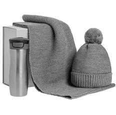 Набор Snowballs: термостакан, шапка, снуд, серый фото