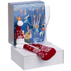 Набор Snowbound: два бокала и чехол для шампанского, красный фото