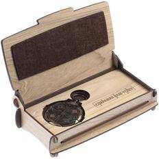 Набор «Сохраняя Ваш успех»: шкатулка деревянная, флешка с кодовым замком «Криптекс»64 Гб, бежевый / бронзовый фото