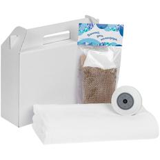 Набор Soul Shower: беспроводная колонка StuckSpeaker 2.0, полотенце Soft Me Light, мочалка «Банный день календаря», белый фото