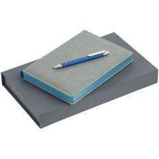 Набор Spain: ежедневник Spain, ручка шариковая Button Up, голубой фото