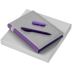 Набор Spain Memory: ежедневник недатированный, флешка Vivien 8 Гб, ручка шариковая Prodir DS3 TFF Ring, фиолетовый фото