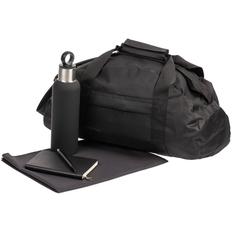 Набор спортивный Back on Track: сумка, полотенце, бутылка, ежедневник, ручка, черный фото