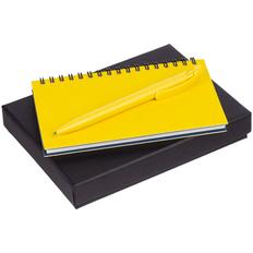 Набор Spring: блокнот Spring, ручка шариковая Clear Solid, желтый фото