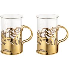 Набор стаканов в подстаканниках Cite, золотистый фото