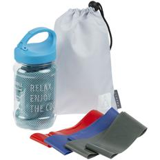 Набор Stay Cool: охлаждающее полотенце, набор эластичных лент для фитнеса Zen, голубой фото