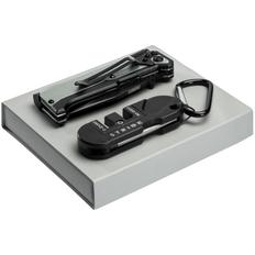 Набор Ster: нож и точилка для ножей, чёрный фото