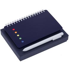 Набор Stick: блокнот Stick, ручка шариковая Slider, синий фото