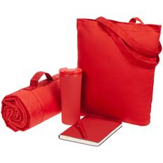 Набор Stitch Pitch: сумка, плед, термостакан, ежедневник, ручка шариковая, красный фото