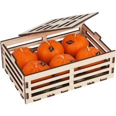 Набор свечей Citrus Box, оранжевый фото