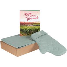 Набор Sweet Sunday: фартук Feast Mist, прихватка-рукавица Feast Mist, книга для записи рецептов, зеленый фото
