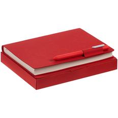 Набор Tact Taction: ежедневник Tact, ручка шариковая Prodir, красный фото